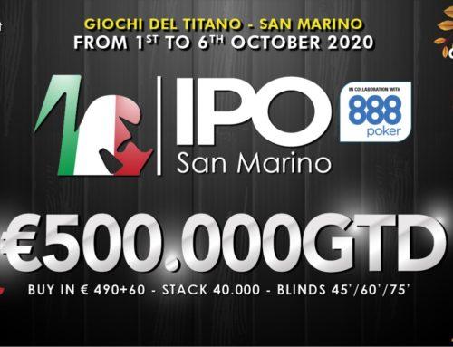 IPO SAN MARINO €500.000GTD dal 1 al 6 Ottobre