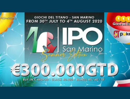 IPO SAN MARINO €300.000GTD dal 30 Luglio al 4 Agosto